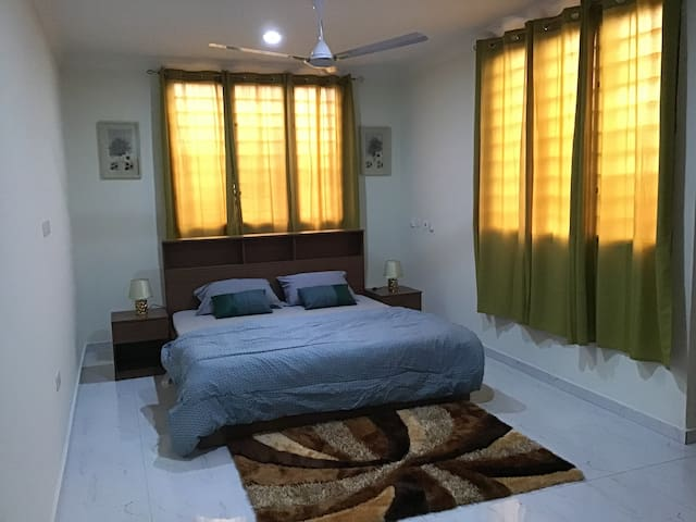 Bedroom 1 with the queen size,.