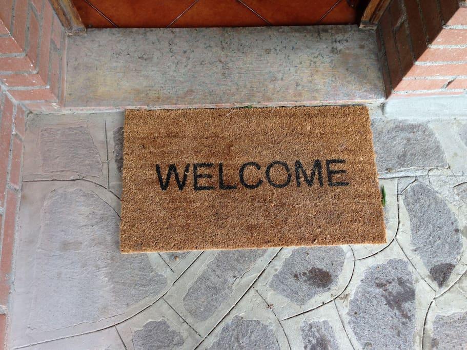 Benvenuti добро пожаловать welcome