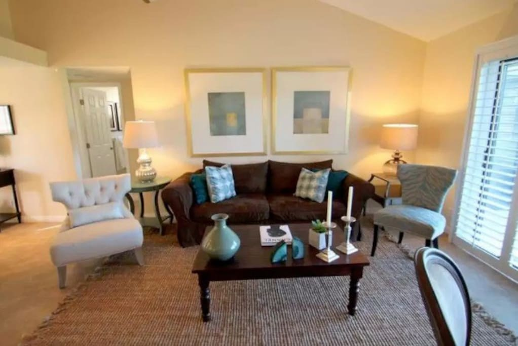 Nicely decorated living room with the smallest touches