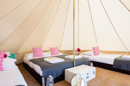 Gold Family Luxury Bell tent-We Are Not A Festival