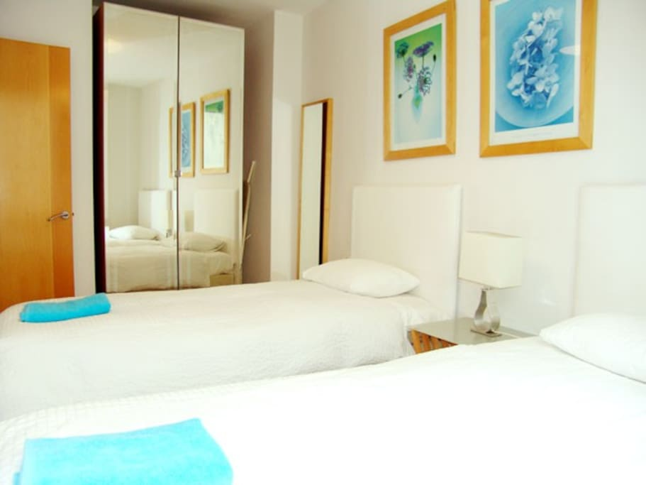 this twin bedroom can be joined as a double ONLY under request before the day of your arrival