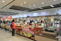 Many food stalls in Tesco Lotus