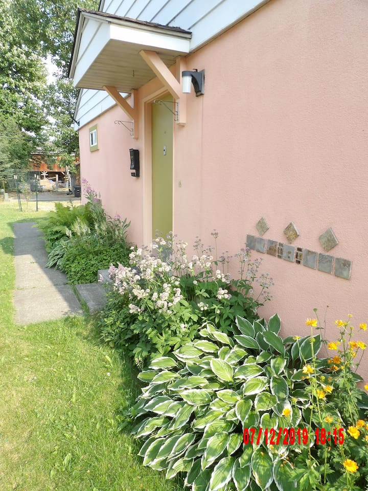 Front walkway with alley parking-should I talk about all my plants?