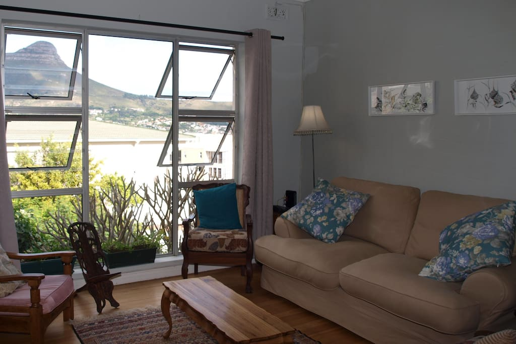 The lounge has lovely views of Table Mountain and Lions Head.