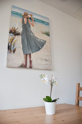 Decoration. Painting above the dining table