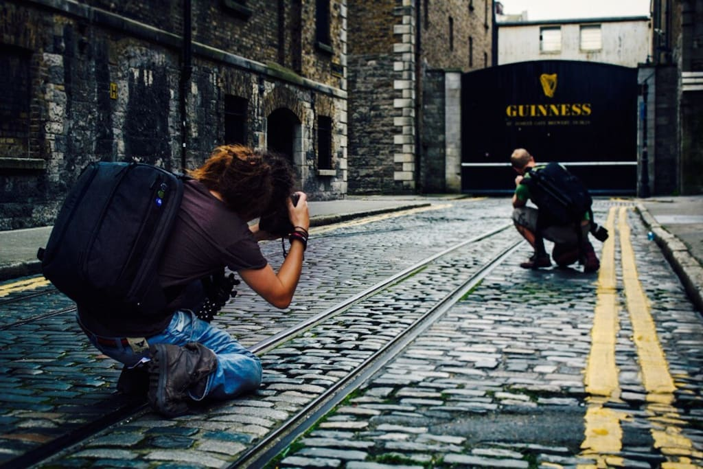 Guinness storehouse, 5 minutes walk from the apartment