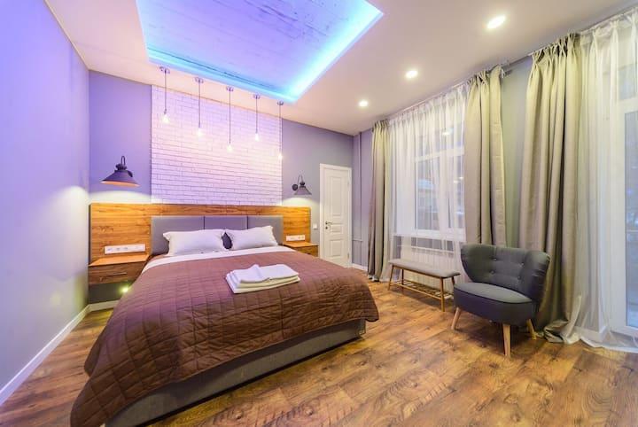 Loft Studio Apartment with Balcony ID782