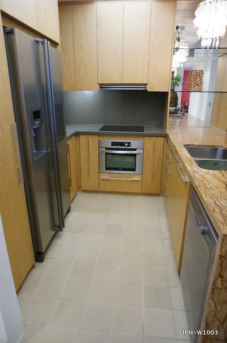 Kitchen:  - Side by side refrigerator Samsung - Electric stove and oven+ microwave 2 in 1 TEKA - Smoke-consumer TEKA - Dish washer Electrolux - Other kitchenwares (ready to use)