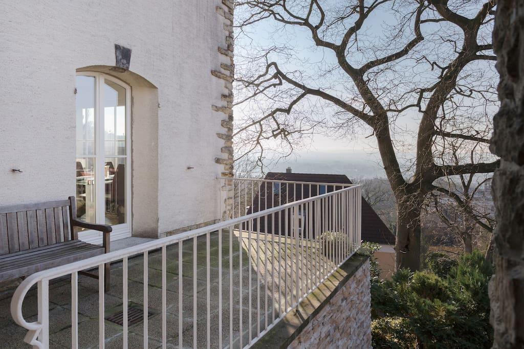 Terrasse mit phantastischer Aussicht