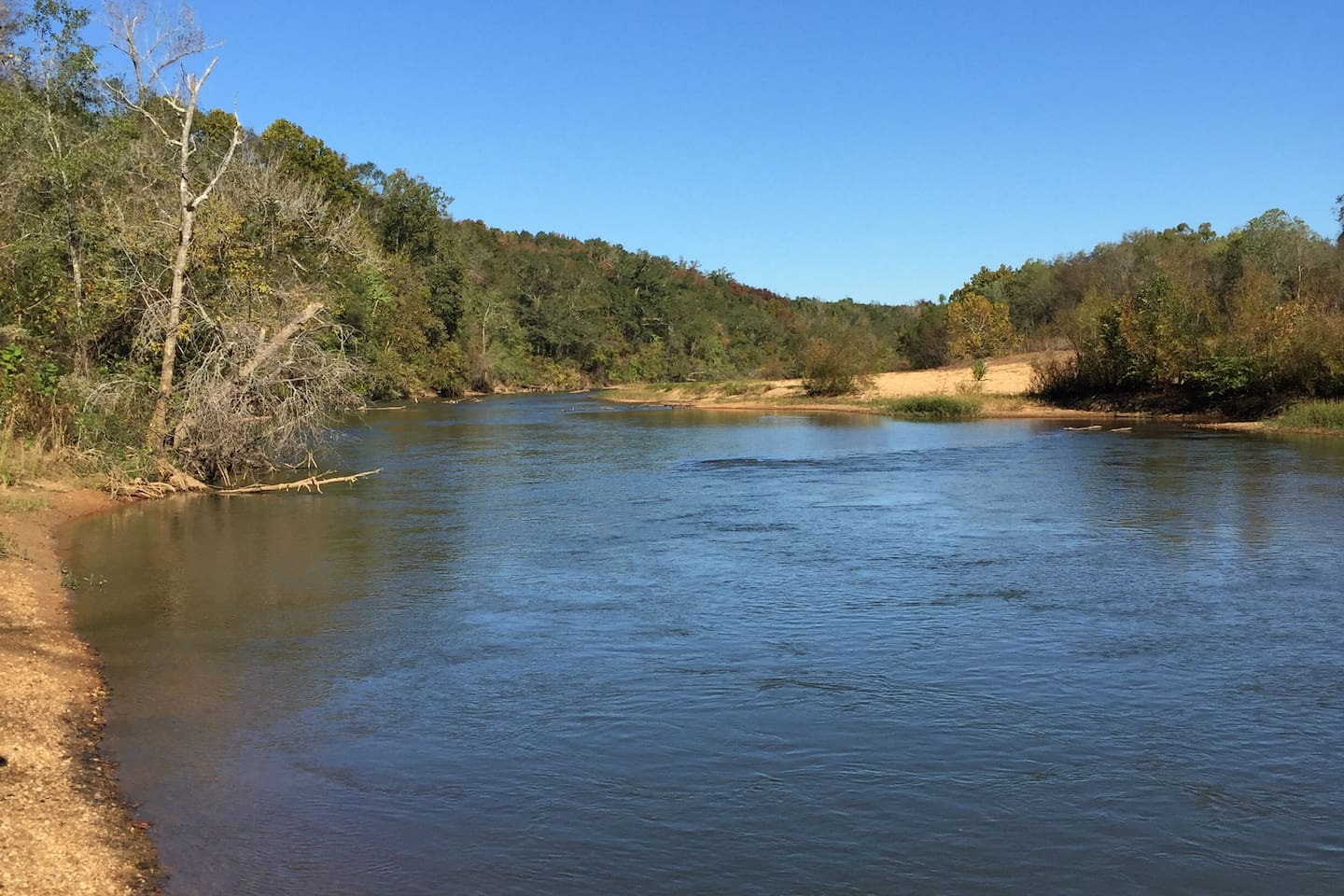 The Cahaba River.  You can canoe down river to Perry Lakes Park.  Drive is 7-10 minutes.