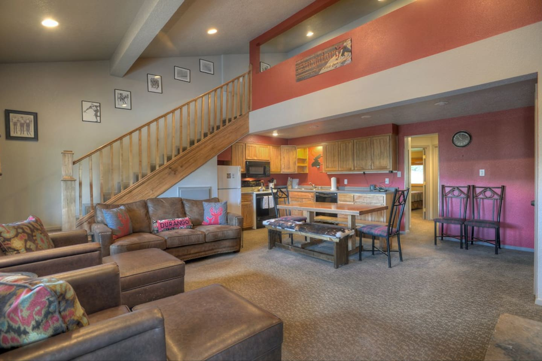 Living Room, Kitchen, Dining Room and Loft Bedroom