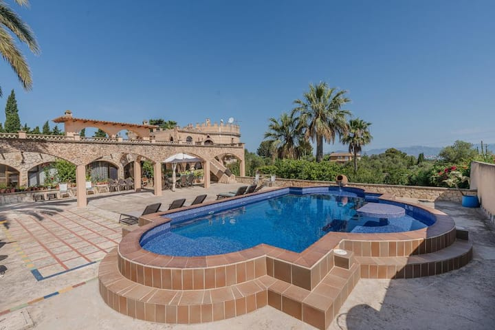 """Holiday Home """"Castell Bohio"""" with Pool, Sea View, Garden, Terrace & WiFi; Parking Available"""