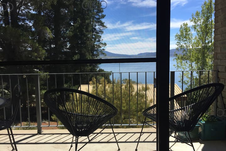 View of lake jindabyne from balcony