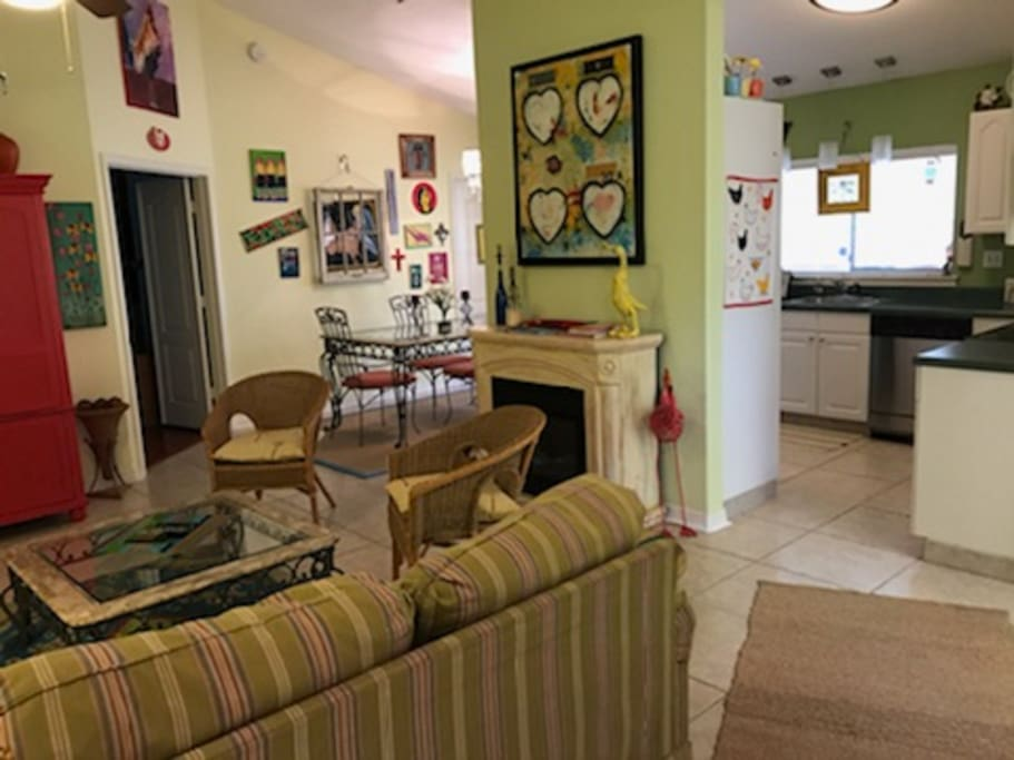 Entry to living room - Kitchen