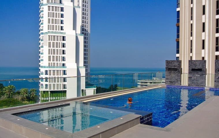 2Bedroom,100m to the sea,Pattaya Na Kluea - Na Kluea - Lägenhet