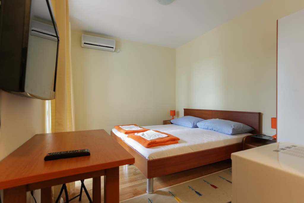 The Bedroom with flat TV, DVD, air - conditioner