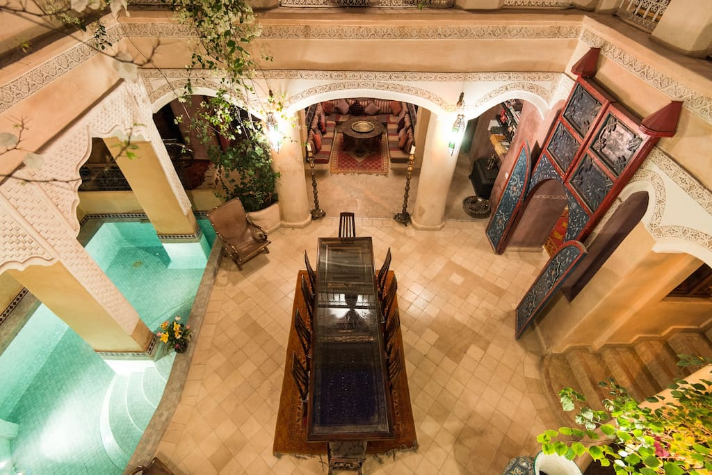 Le patio du Riad.