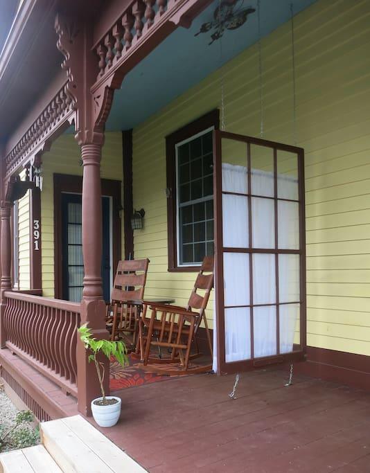 Your place on the verandah.  Enjoy!