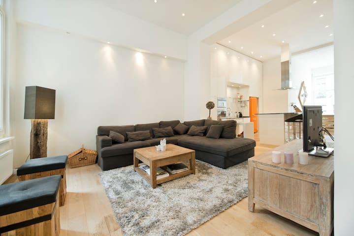 Duplex 160m² met sauna & piano