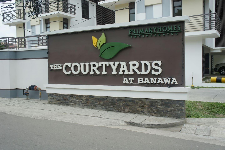 The facade/entrance to the property