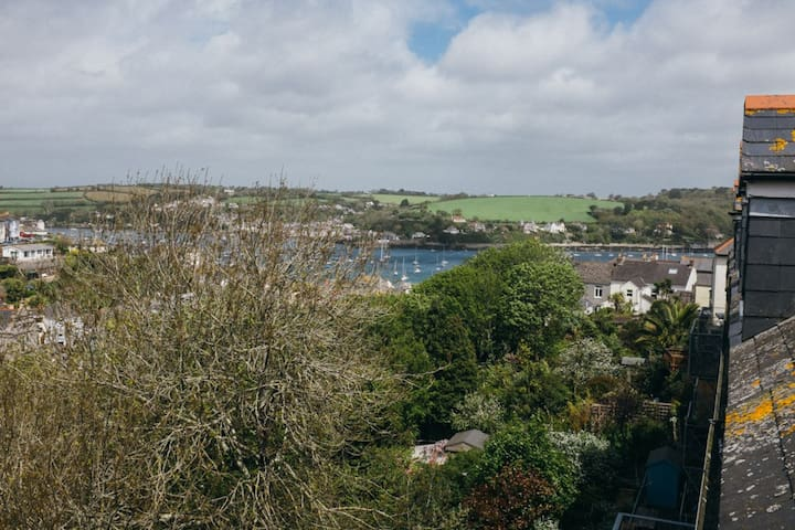 View from the window of the Falmouth estuary
