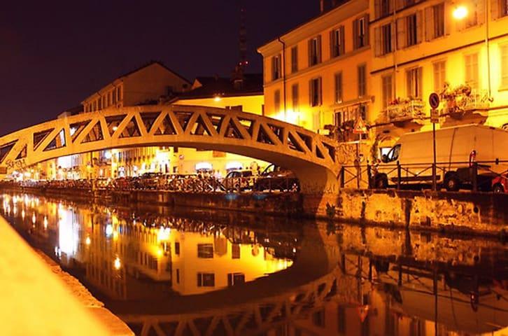 Milan: Navigli's pedestrian area