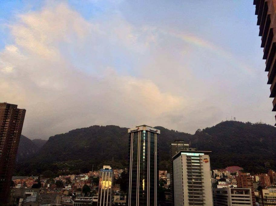 si corres suerte, podrás ver salir el arco iris en algún momento del día.