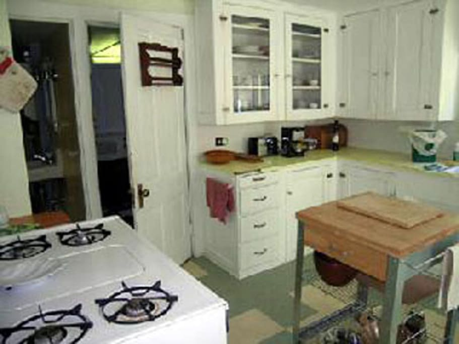Kitchen toward bathroom and laundry room