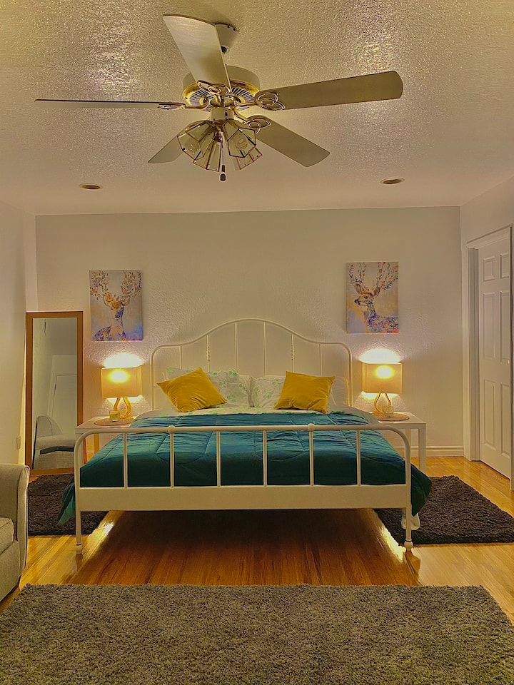 King bed private room New modeled near Disneyland