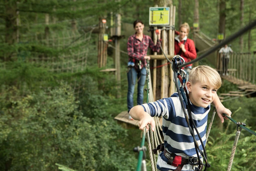 Go Ape in Bedgebury offers a superb tree top adventure