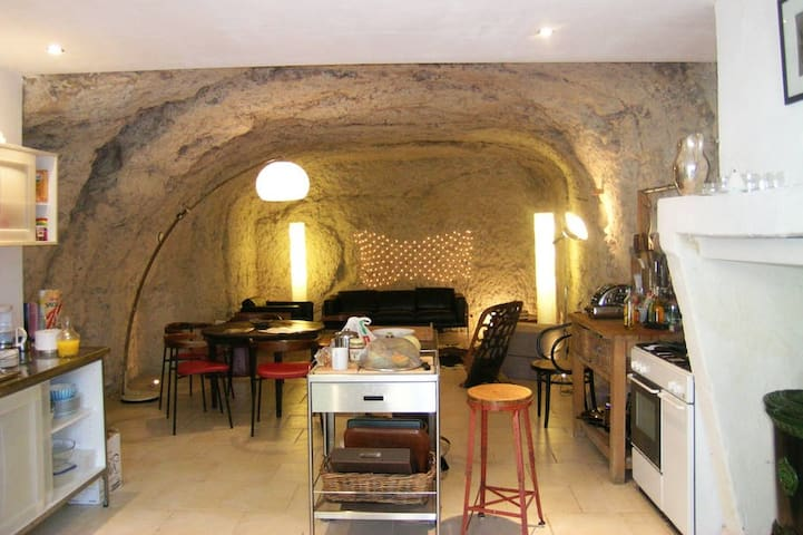 Troglodyte Cave House in picturesque Loire Valley