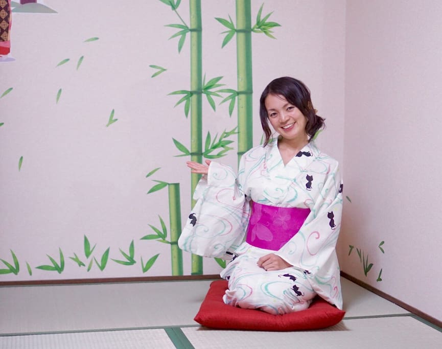 you can rent a kimono during your stay (booking in advance)