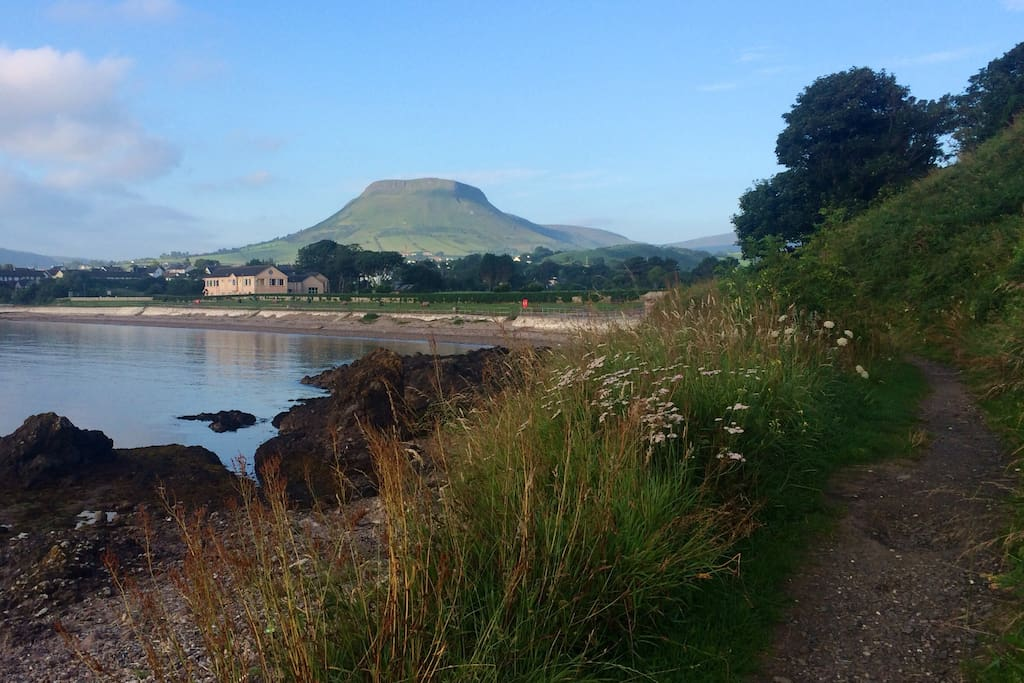 View towards B&B from Cushendall Beach