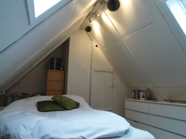 The loft. Bedroom with a special view.
