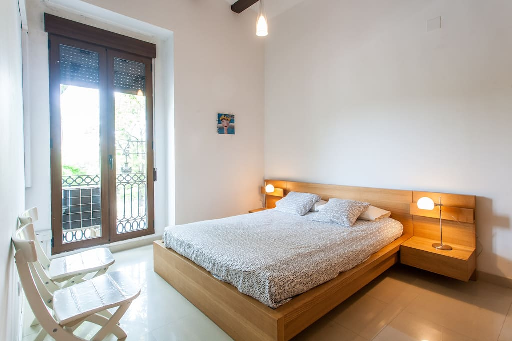 Large main bedroom with ample storage