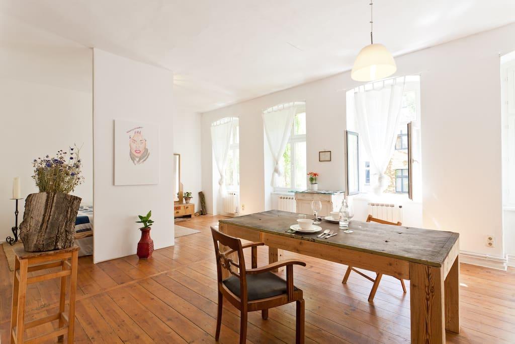 Spacious Design Loft In Kreuzberg Apartments For Rent In