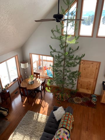 Cozy dining and living area, shared with hosts (not private).
