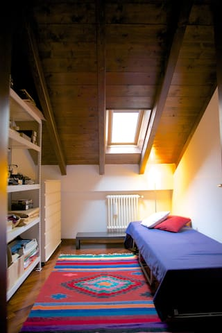 your room upstairs