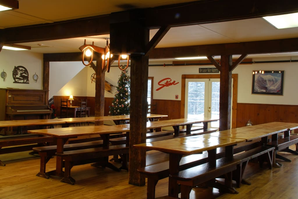 The dining area adjacent to the Hearth and common area.