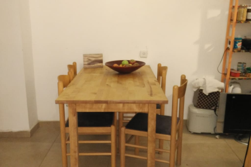 Eating table in the living room