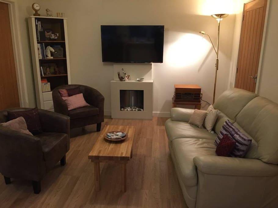Modern open plan living space