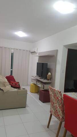 Apartamento super confortável em frente a praia