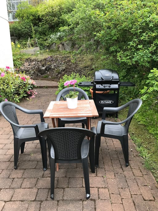 Outdoor seating and BBQ