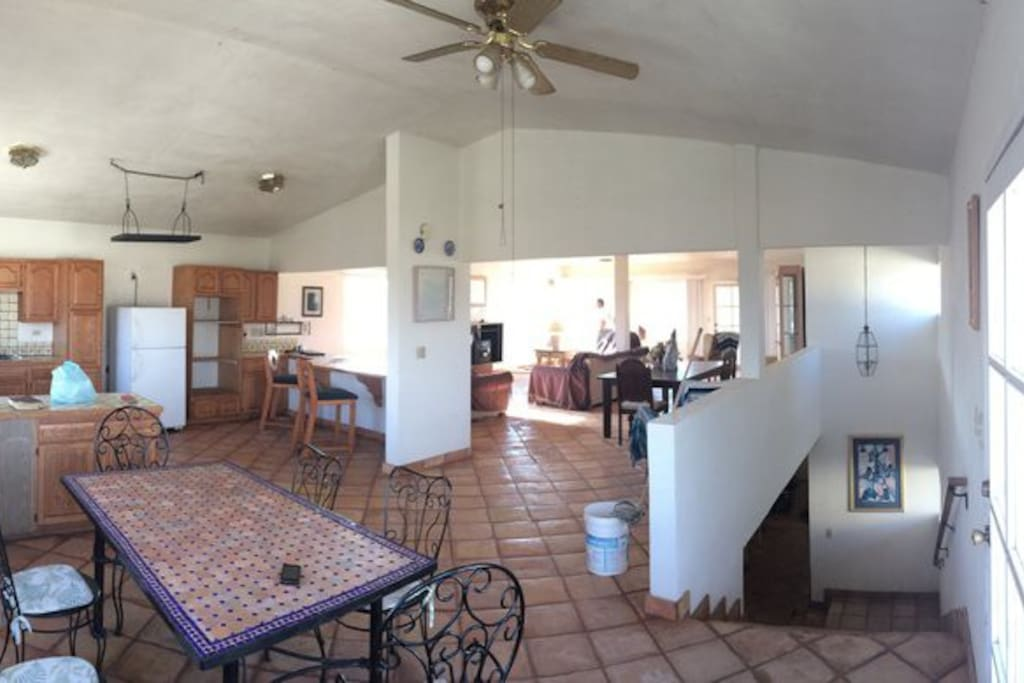 Large kitchen and dinning area