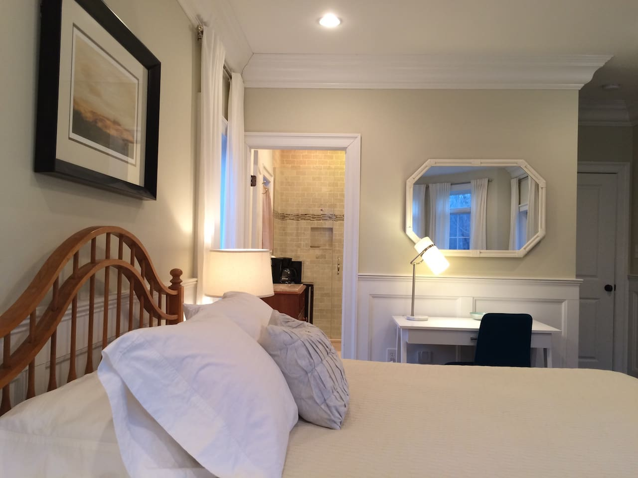 Light & Bright Master Suite with separate entrance.