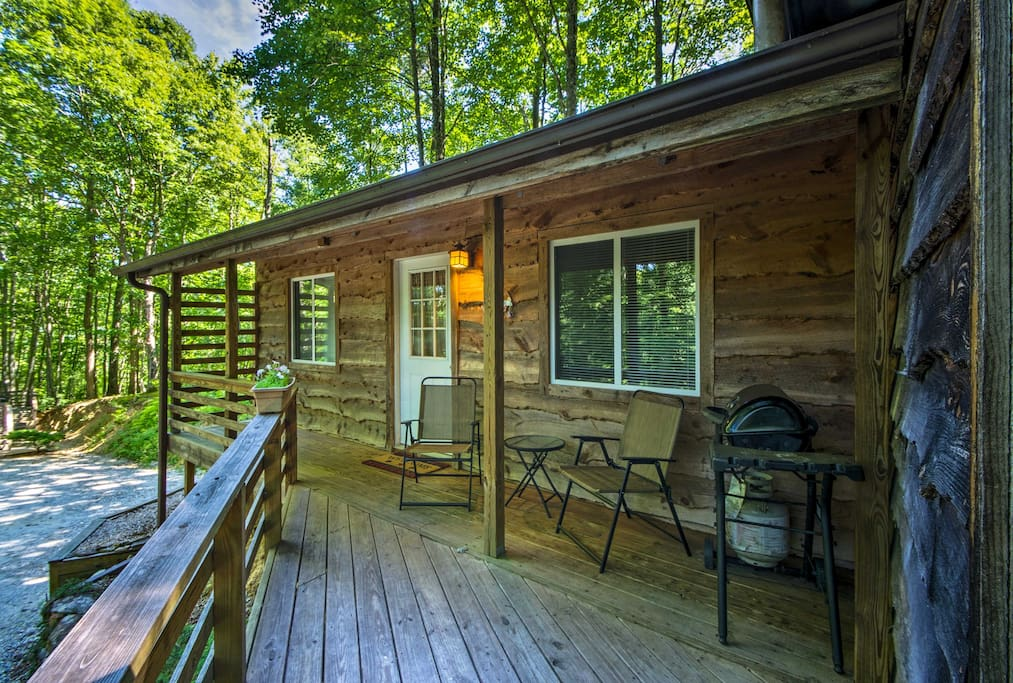 The home offers a spacious deck and gas grill.