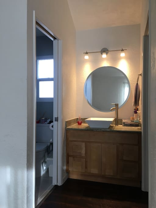 Master full bathroom on second floor.  Walk-in closet across from bathroom (not shown).