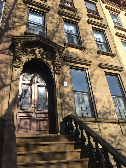 Classic Brooklyn brownstone. Mine is the second row of windows, one floor up.