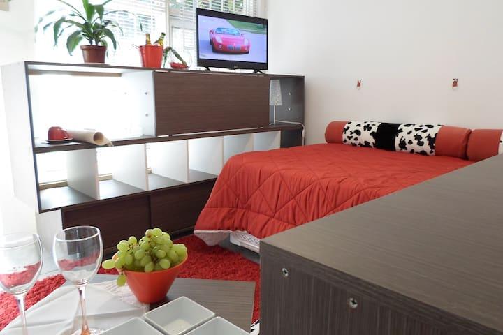 Pequeña habitación con baño y cocina privados - Las Condes - Casa