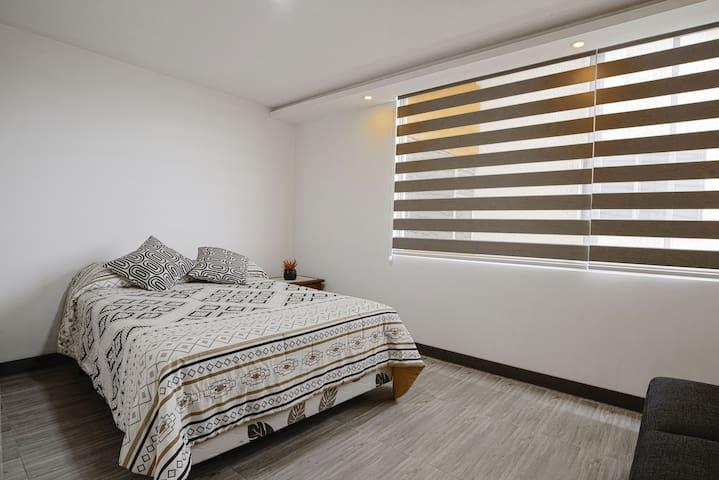 Dormitorio 2 . Cama para 2 personas.